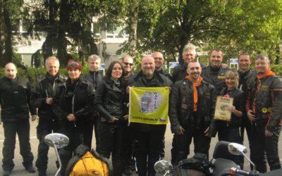 Charitativní jízda členů motoklubu WANTED RC
